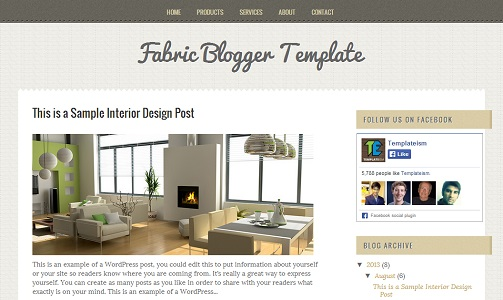 Fabric Interior Design Blogger Template
