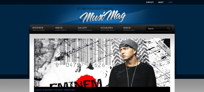 MusiMag Blue Blogger Template