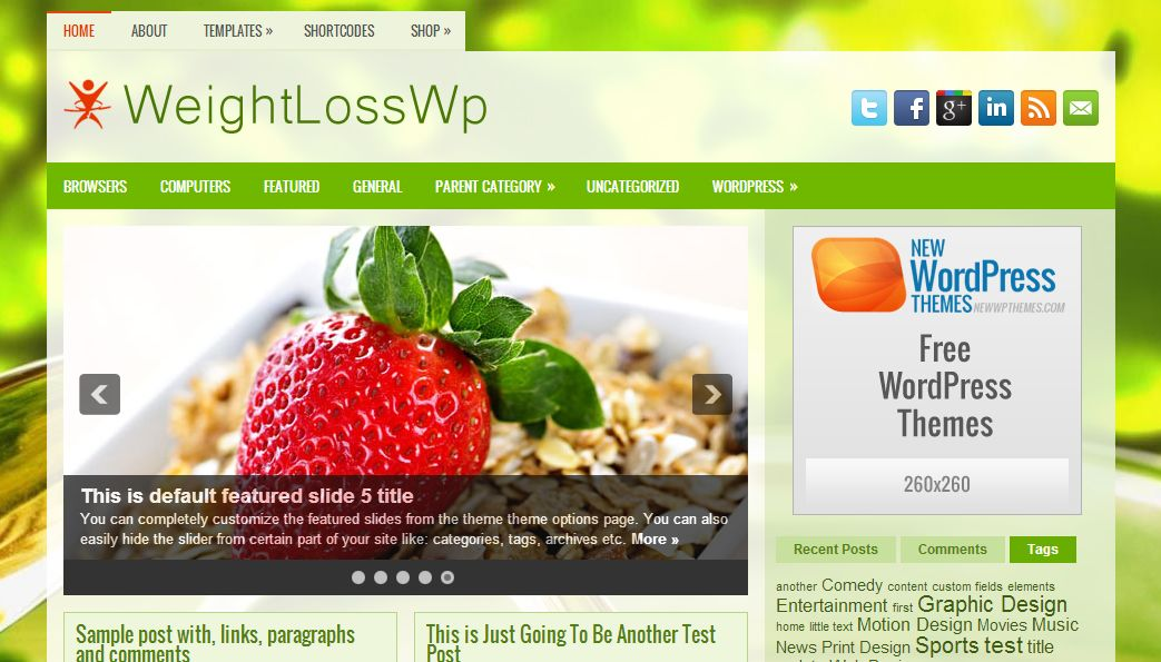 WeightLossWp WordPress Template
