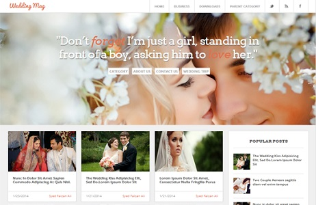 Blogger Template Wedding Magazine
