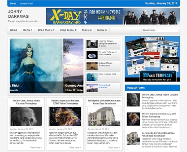Johny Darkmag Blogger Template