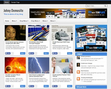 Johny Demosite Blogger Template