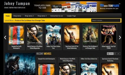 Johny Tampan Movie Review Blogger Template
