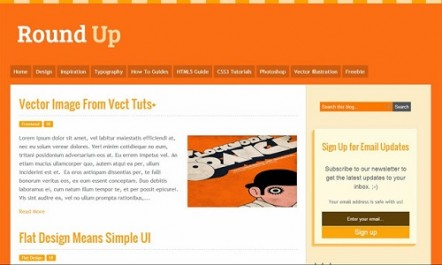 Round Up Blogger Template