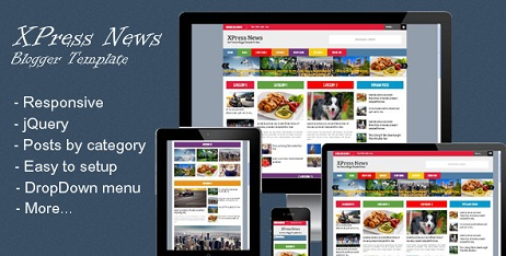 Xpress News Responsive Blogger Template