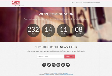 Alissa Under Construction Blogger Template