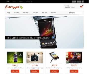 Catalogspot Revo Blogger Template