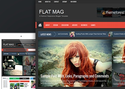 Flat Mag Responsive Magazine Blogger Template