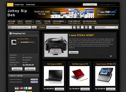 Johny Sip Deh eCommerce Blogger Template