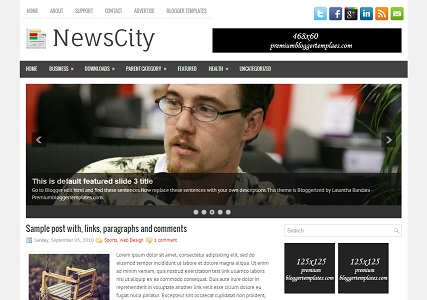 NewsCity Blogger Template
