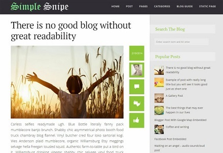 Responsive Blogger Template Simple Snipe