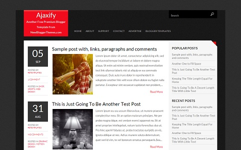 Ajaxify Blogger Template