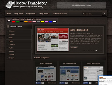 Collector Template Blogger Template