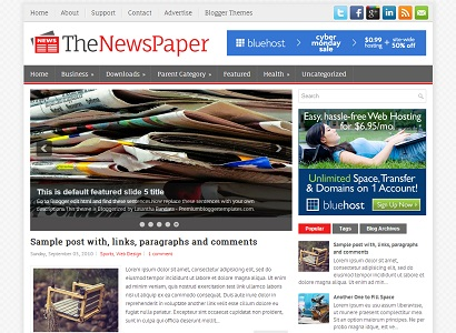 TheNewspaper blogger template