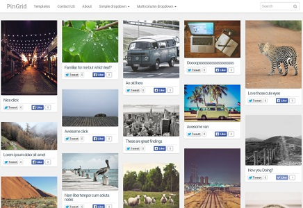 GridPin Photography Blogger Template