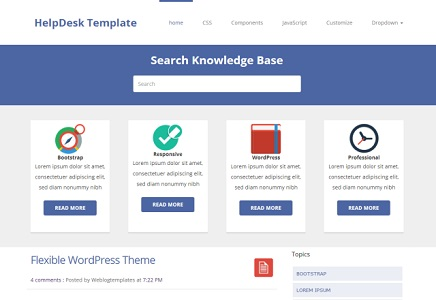 Helpdesk Blogger Template thumb