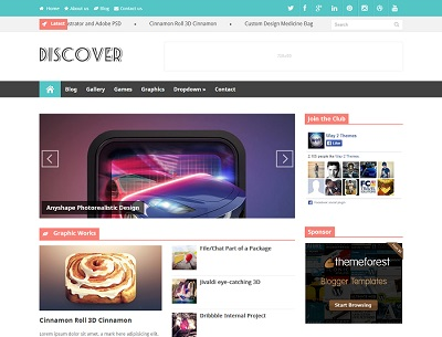 Discover Responsive Magazine Blogger Template small