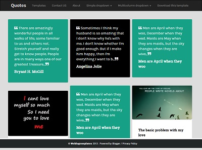 Quotes Responsive Masonry Blogger Template small