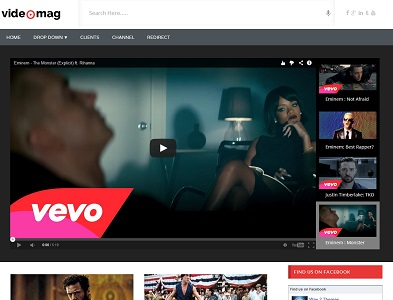 Videomag Video Blogger Template
