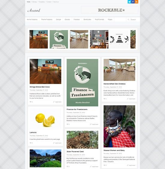 Accord Grid Based Blogger Template