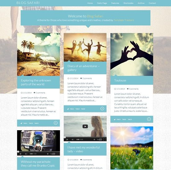 Blog Safari Gallery Portfolio Blogger Template