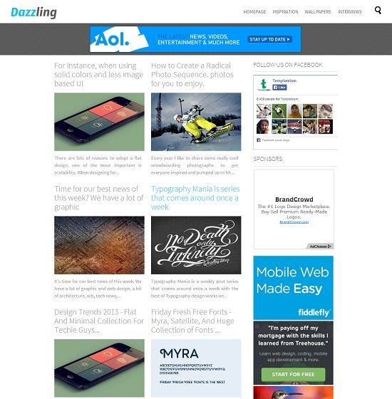Dazzling Grid Based Blogger Template