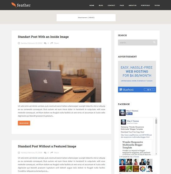 Feature Magazine Blogger Template