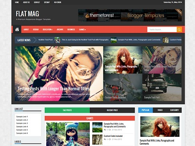 Flat Mag Responsive Magazine Blogger Template small