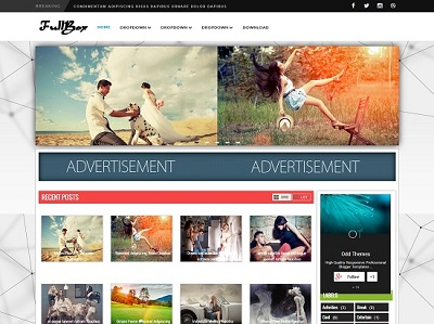 FullBox Magazine Blogger Template small