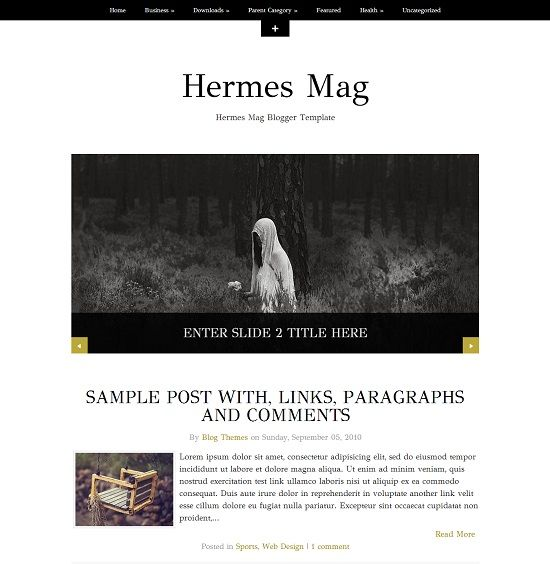 Hermes Mag-Personal Blogger Template