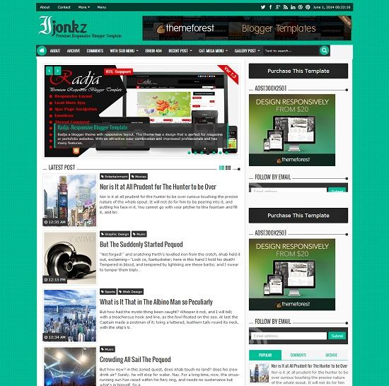 Ijonkz Magazine Blogger Template full