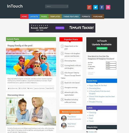InTouch Multipurpose Magazine Blogger Template