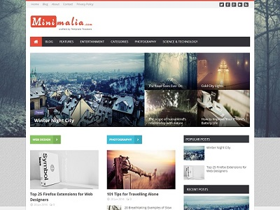 Minimalia Multi Layout Blogger Template small