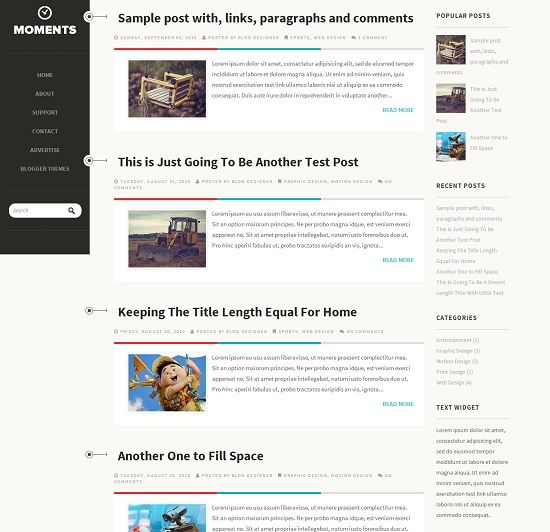 Moments Personal Blogger Template