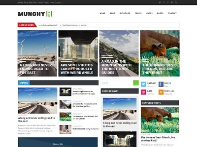 Munchy Flat Style Magazine Blogger Template small