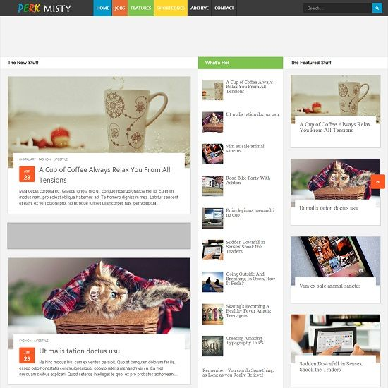 Perk Misty Magazine Blogger Template