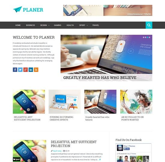 Planer Magazine Blogger Template