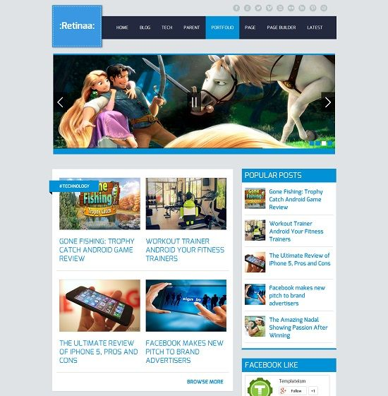 Retina Magazine Blogger Template