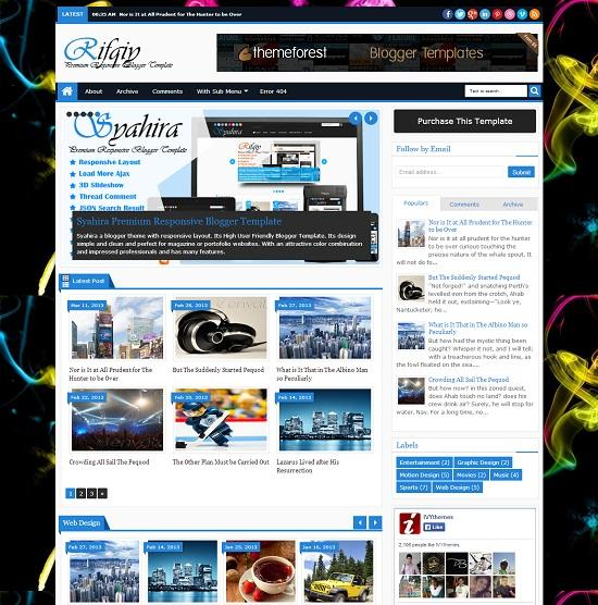 Rifqy Beautiful Blogger Template full