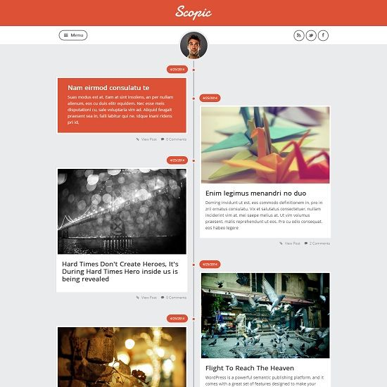 Scopic Responsive Blogger Template full