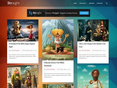 Straight Responsive Blogger Template small