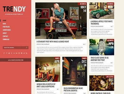 Trendy Responsive Portfolio Blogger Template small