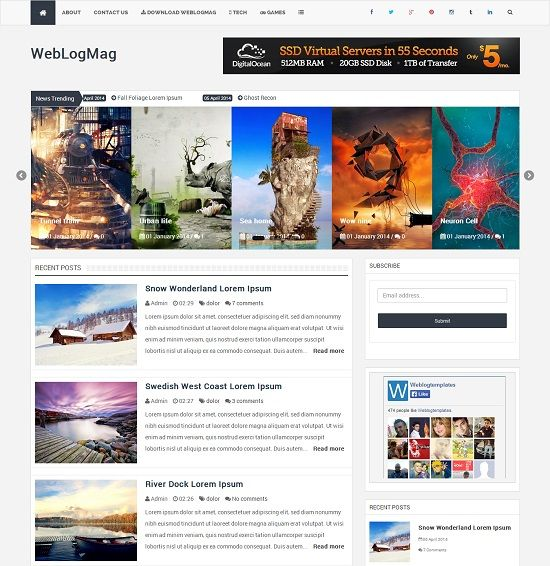 WebLogMag Magazine Blogger Template full