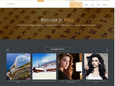 Xmax Multi-Purpose Blogger Template small