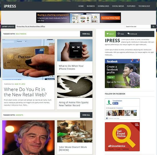 iPRESS Magazine Blogger Template full