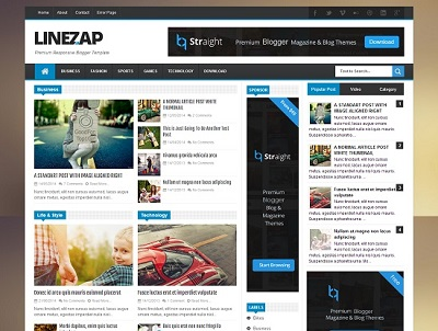 Linezap News Blogger Template small