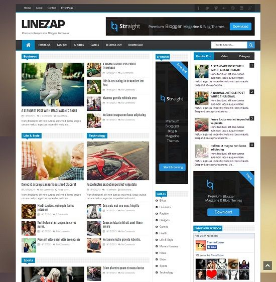 linezap news blogger template abtemplates com