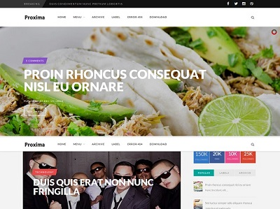 Proxima Multi Purpose Blogger Template small