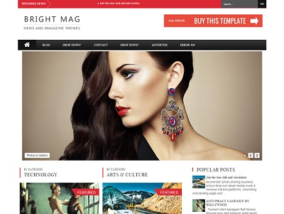 Bright Magazine Responsive Blogger Template small