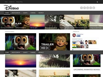 Digbug Video Blogger Template small